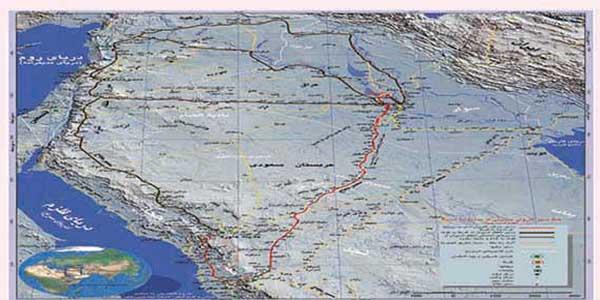 مسیر کاروان اسرای کربلا + نقشه تحقیقی